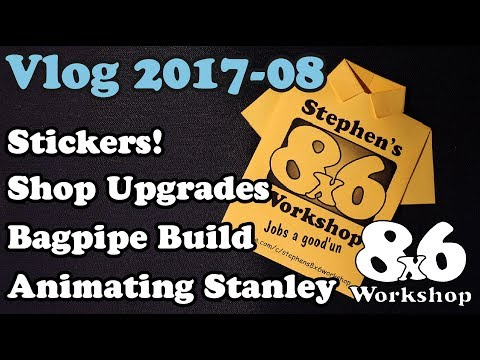 8x6 Workshop Vlog 08-2017 - Sticker Swap and Animating Stanley