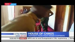 Chaos erupted at HomaBay county after assembly members blocked their speaker from accessing her offi