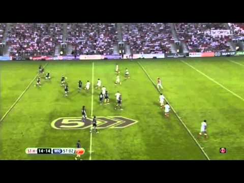 Pat Richards Drop Goal In The St Helens vs Wigan Derby
