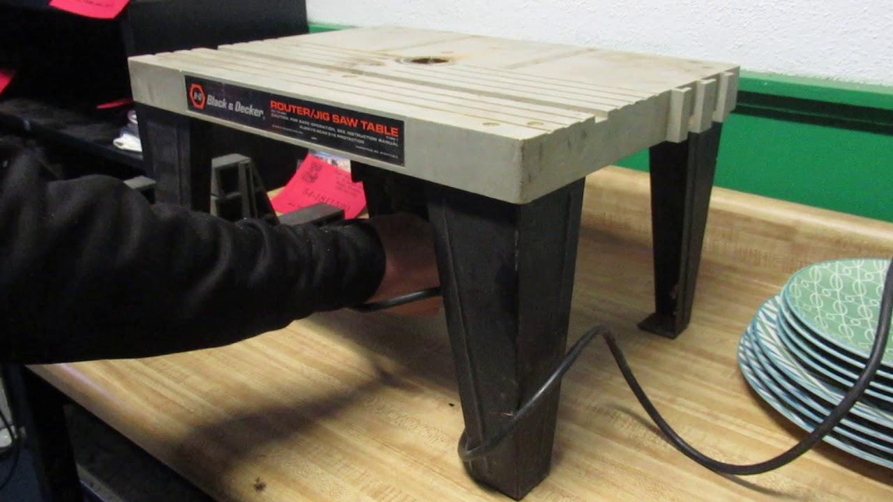 Black Decker Router Jig Saw Table 1 H P 120v You Rh Com