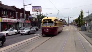 Vintage TTC PCC Streetcar on St. Clair, Toronto, in 2013