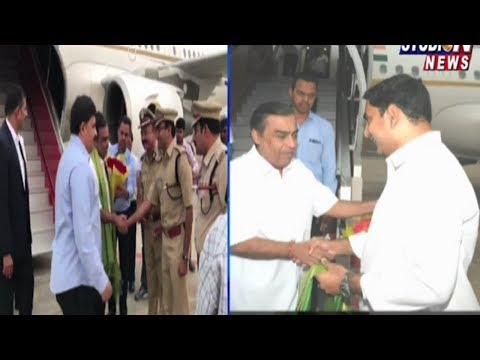 Nara Lokesh Warm Welcomes to Reliance Industries Owner Mukesh Ambani in Amaravathi | Studio N