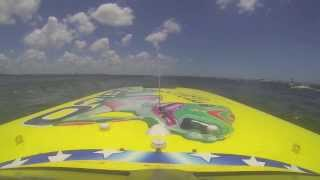 Seconds from Disaster  Miss Geico Raceboat