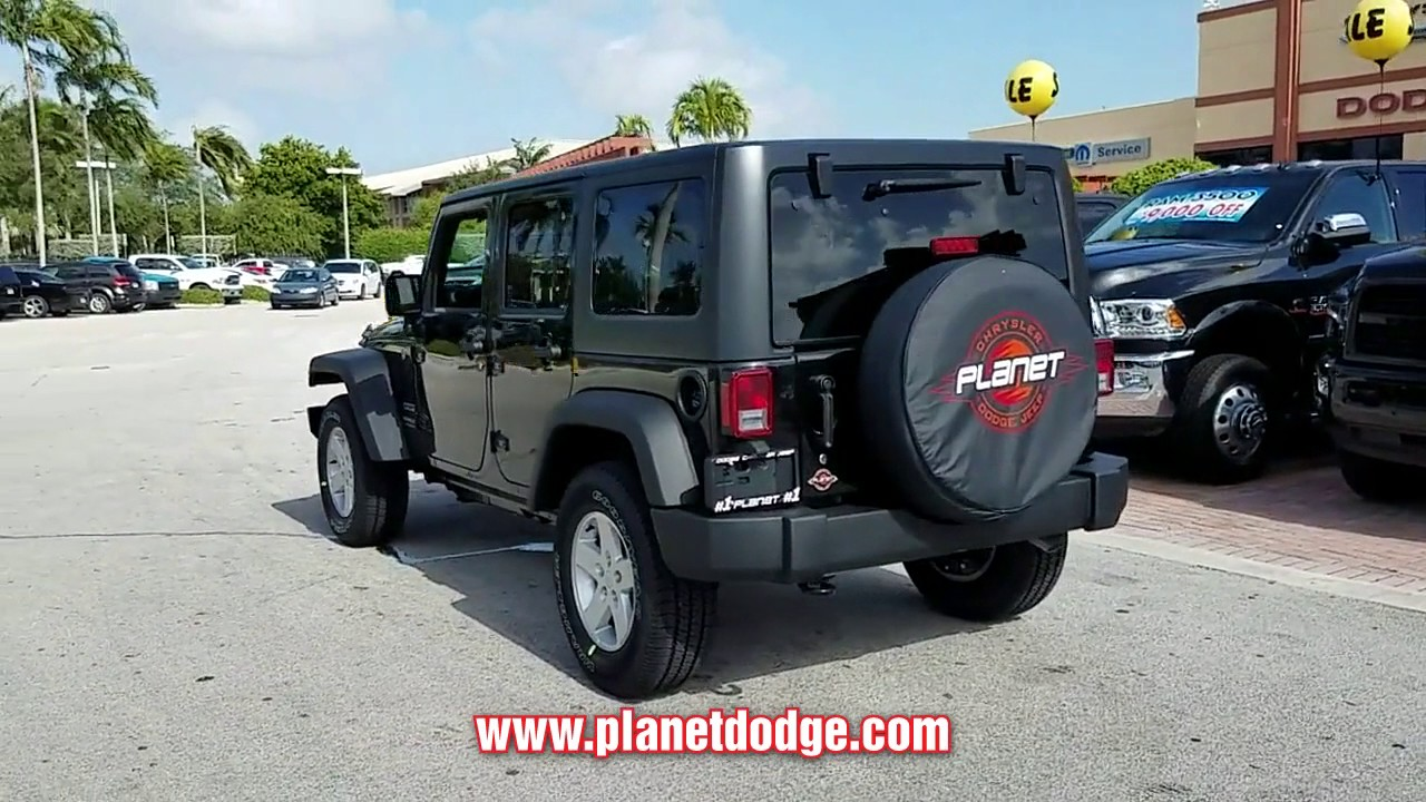 NEW 2017 JEEP WRANGLER UNLIMITED At Planet Dodge Chrysler Jeep New  #WHL697066