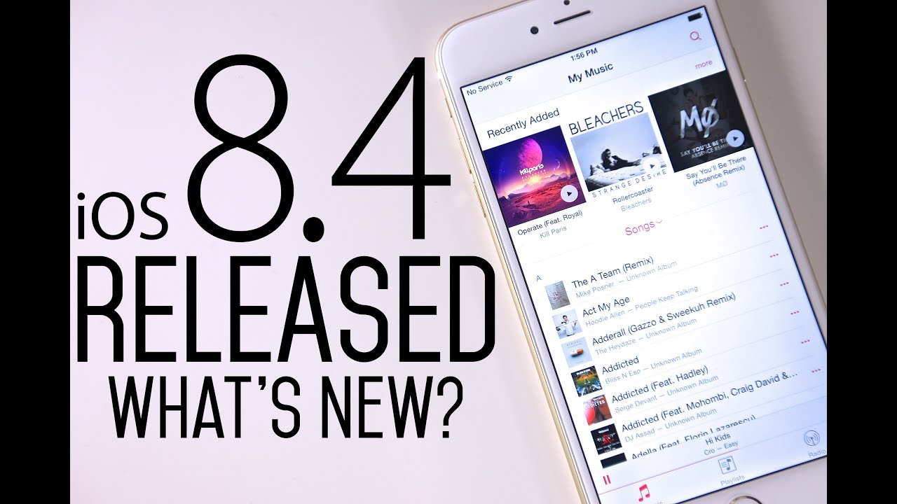Apple Releases iOS 8.4 with Apple Music and a lot of improvements!