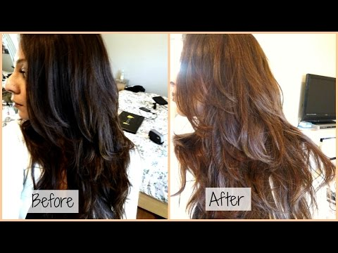 How I Dye My Hair From Black to Chocolate Ash Brown at Home