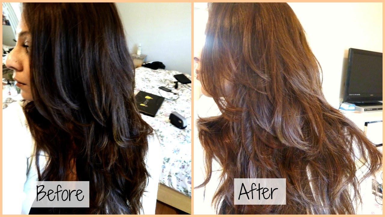 Changing Hair Color Dark Brown Light Brown