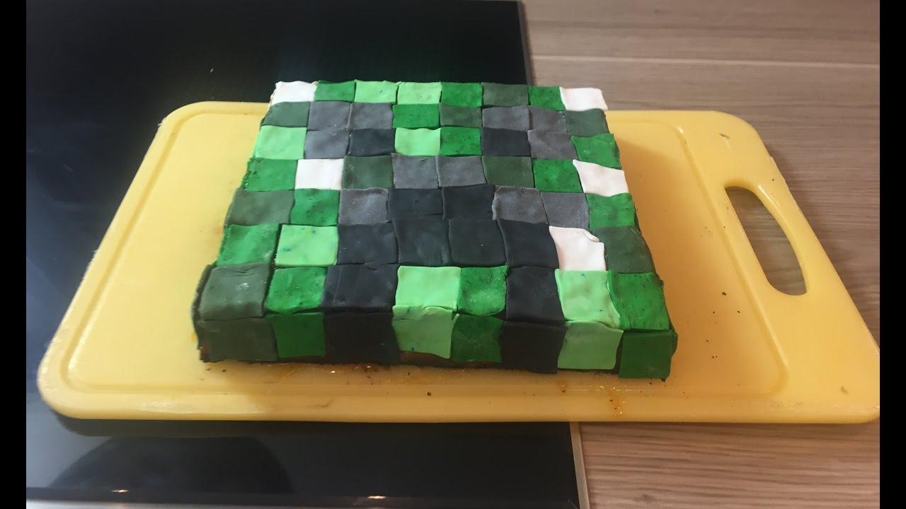 Minecraft Creeper Kuchen Torte Von Einfachstephie De Youtube