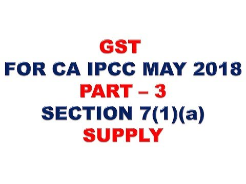 GST FOR CA IPCC MAY  2018 PART 3