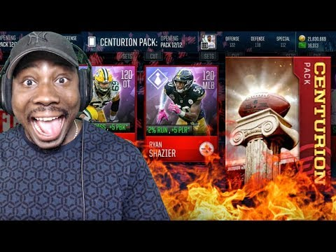 100 ELITE PLAYERS IN 1 CENTURION PACK! Madden Mobile 18 Gameplay Pack Opening Ep. 56