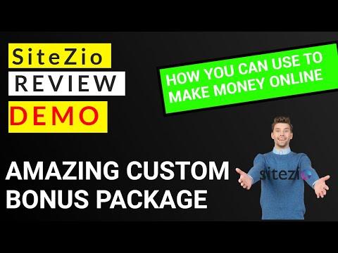 SiteZio Review and Demo, Custom Exclusive Bonuses thumbnail