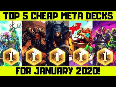 Top Hearthstone Cheaper Decks January 2020!
