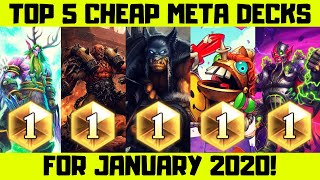 Top Hearthstone Cheaper Decks January 2020!