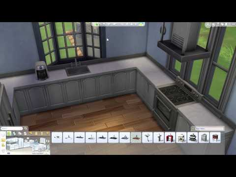 The Sims 4: Building a Home - Furnishing Kitchen & Dining Rooms; Living Area
