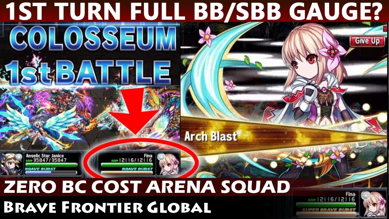 Awesome Arena Squad Setup - 1st Turn All Units Full BB/SBB Gauge? (Brave  Frontier Global)
