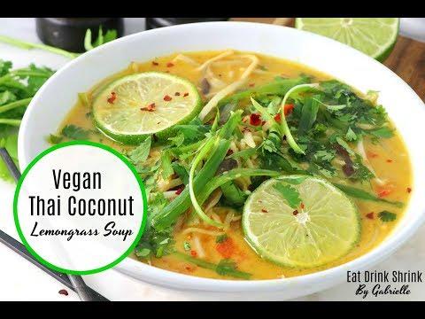 Vegan Thai Coconut Lemongrass Soup