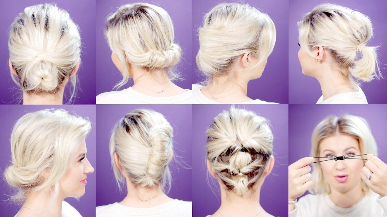 easy hair tools for short hairstyles tutorial | milabu