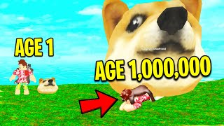 RAISE YOUR OWN PUPPY IN ROBLOX! *HITTING OLD AGE*