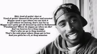2pac Thugz Mansion Lyrics Original Versionhq