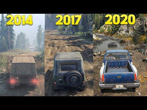 Evolution Of Spintires Games - SnowRunner And Mudrunner All Games Gameplay