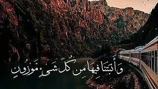 والأرض مددناها وألقينا فيها رواس - اسلام صبحي تلاوة رائعة 💕