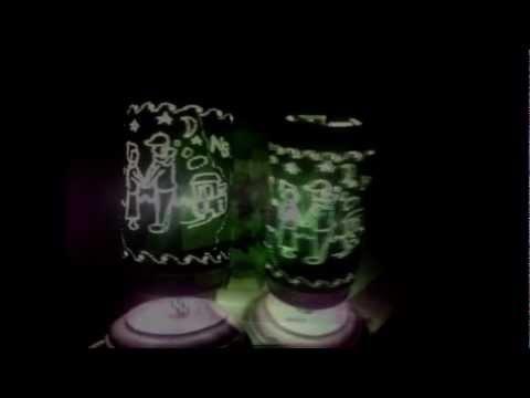 đèn ngủ hamet làm bằng lon bia tận dụng .