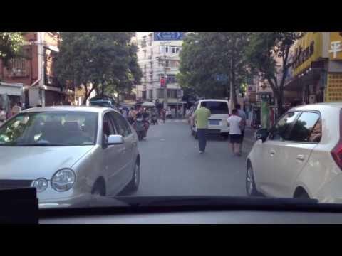 Driving in Down town Shanghai