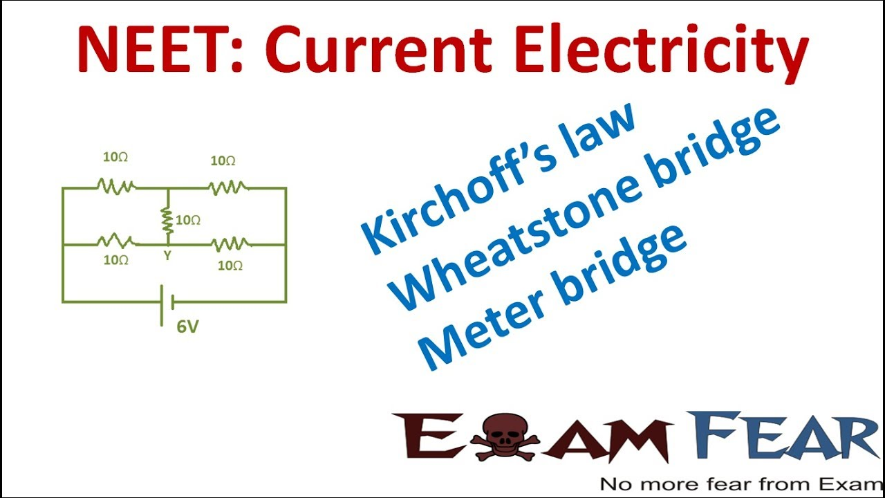 maxresdefault neet physics current electricity kirchoffs law, wheatstone bridge