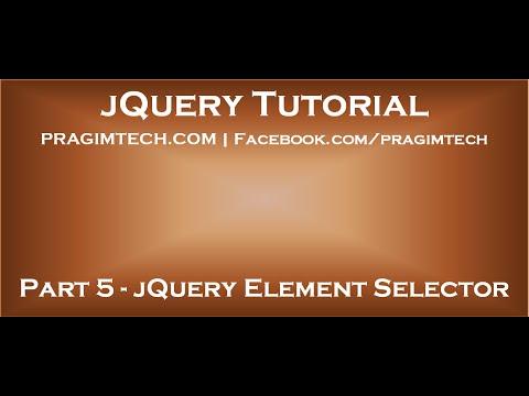 JQuery Element Selector