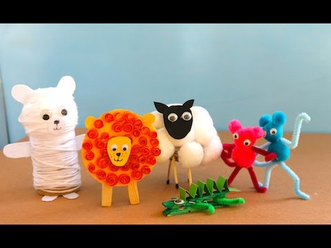 Five Cute Animal Crafts To Make Youtube