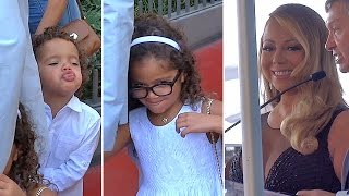 Mariah Carey's Twins Steal Show At Hollywood Star Ceremony