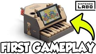 Super Mario Bros Theme on Nintendo Labo Piano!