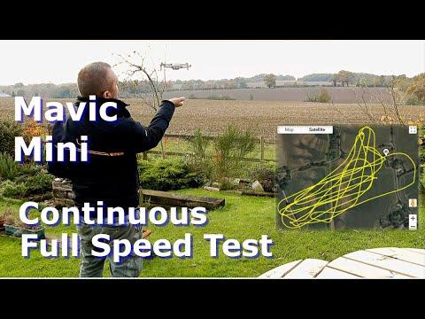 DJI Mavic Mini: Continuous Full Throttle Distance & Flight Time Test