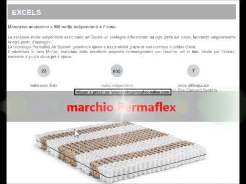 Scheda materasso permaflex excels - YouTube