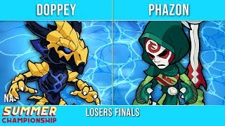 Doppey vs Phazon - Losers Finals - Summer Championship NA Top 3
