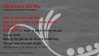 Afrikaans Sal Bly - ProTrax Karaoke Demo