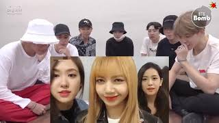 BTS REACTION to BLACKPINK ||  BLACKPINK Cute And Funny Moments