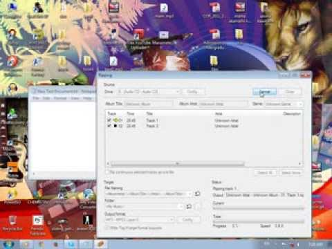 how to rip audio cd files to mp3 file