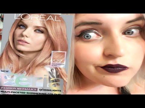 DYING MY HAIR ROSE GOLD! - L'Oreal Paris -Application|Reveiw