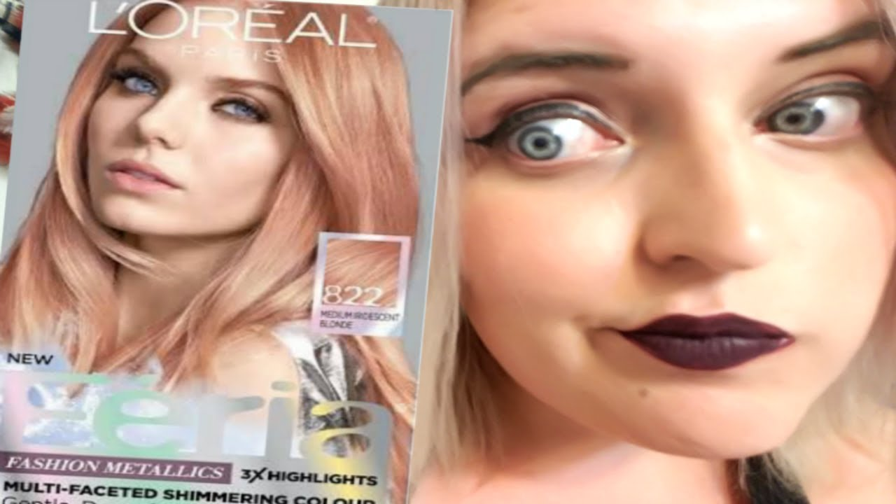 Dying My Hair Rose Gold L Oreal Paris Application
