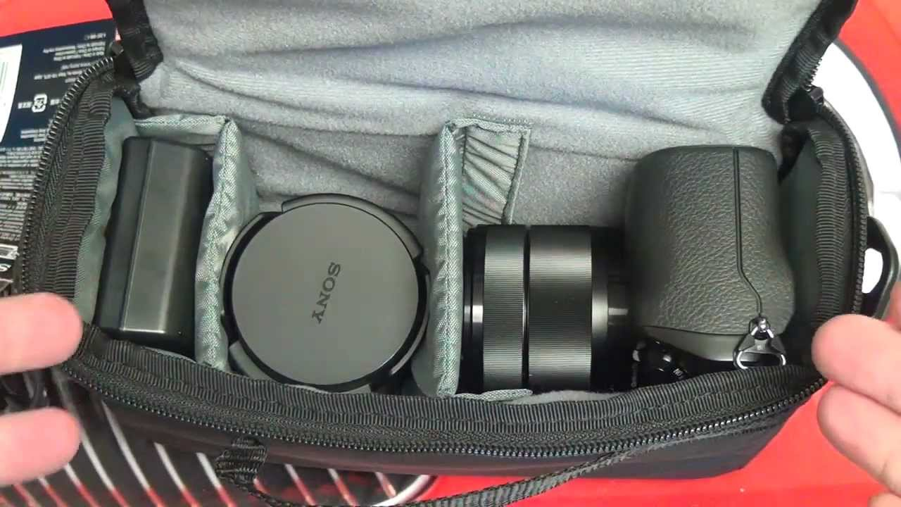Sony Lcs Emf Soft Carrying Case For Nex 7 Youtube