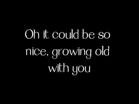 Grow Old With You - Adam Sandler (piano cover + lyrics)