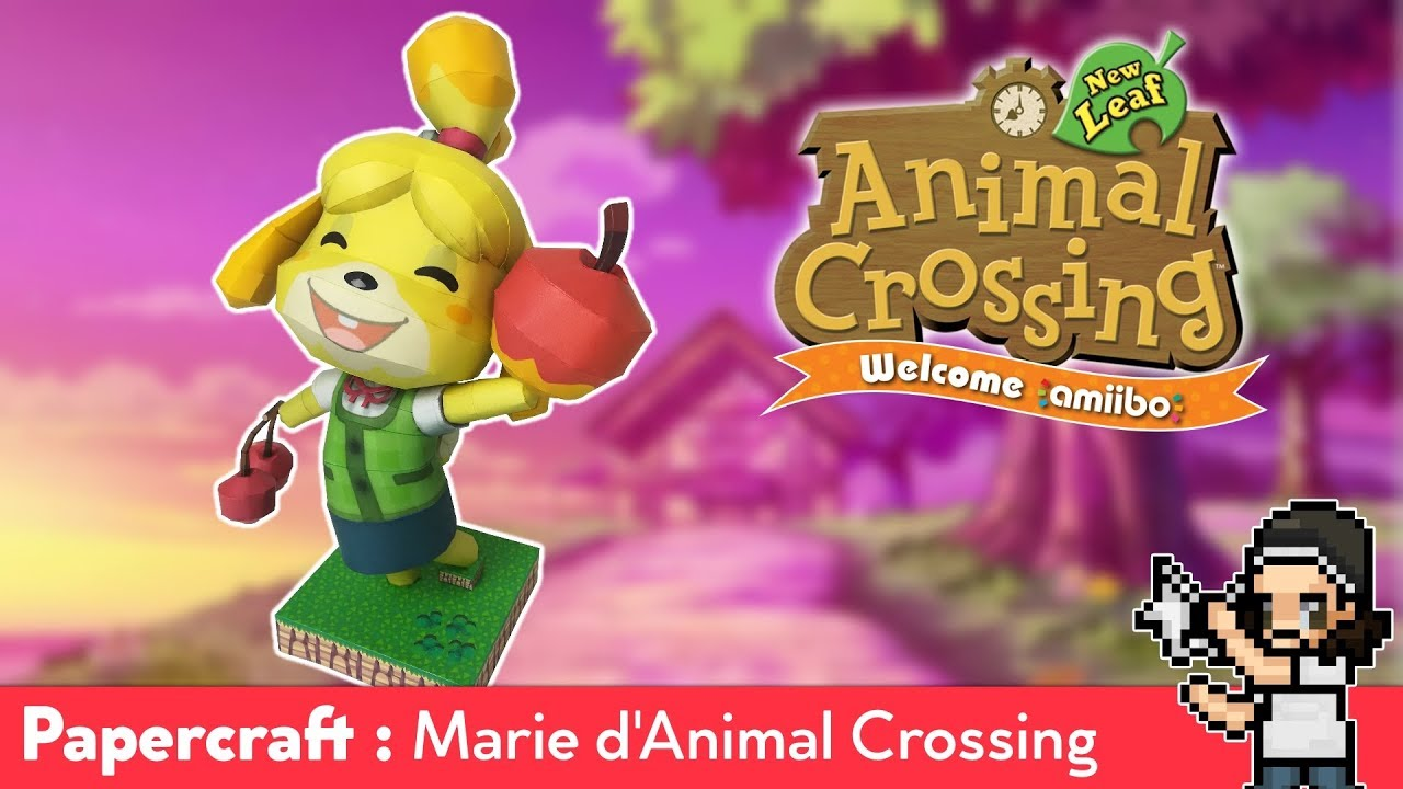 Papercraft Isabelle Of Super Smash Bros Ultimate Animal Crossing