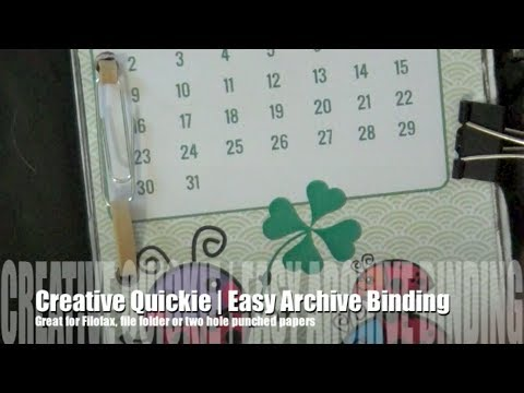 Creative Quickie | Easy Archive Binding (Punched Papers)
