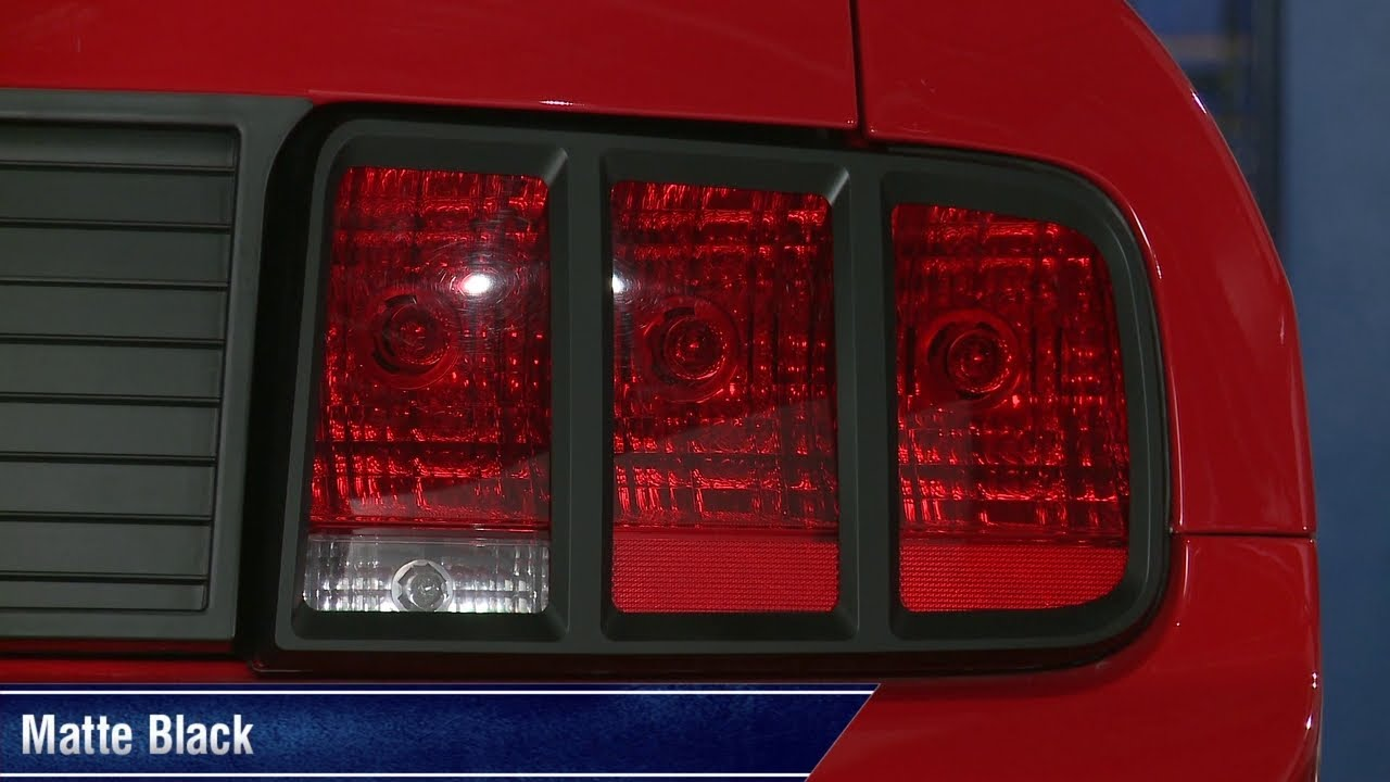 Mustang Mmd Tail Light Trim Pre Painted Matte Black And