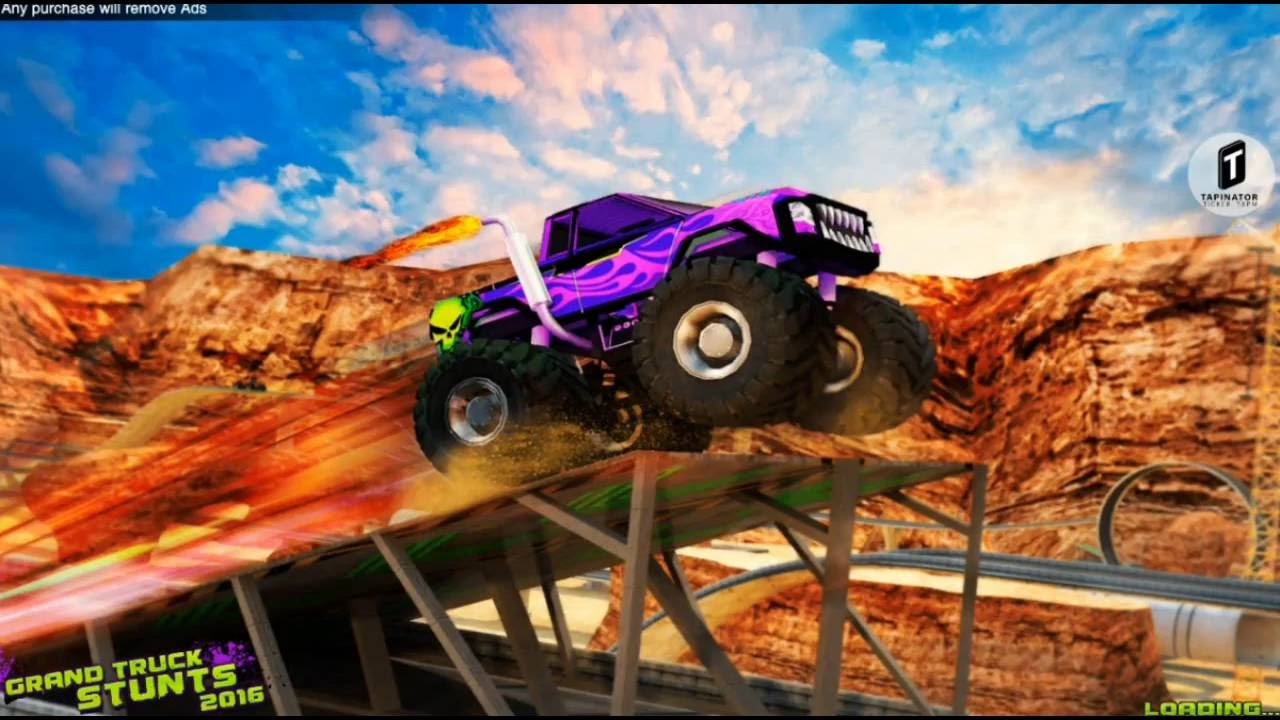 grand truck stunts 2016 monster truck games to play free. Black Bedroom Furniture Sets. Home Design Ideas