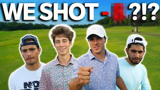 GM GOLF | We Play 4 Man Scramble | How Low Can We Shoot?