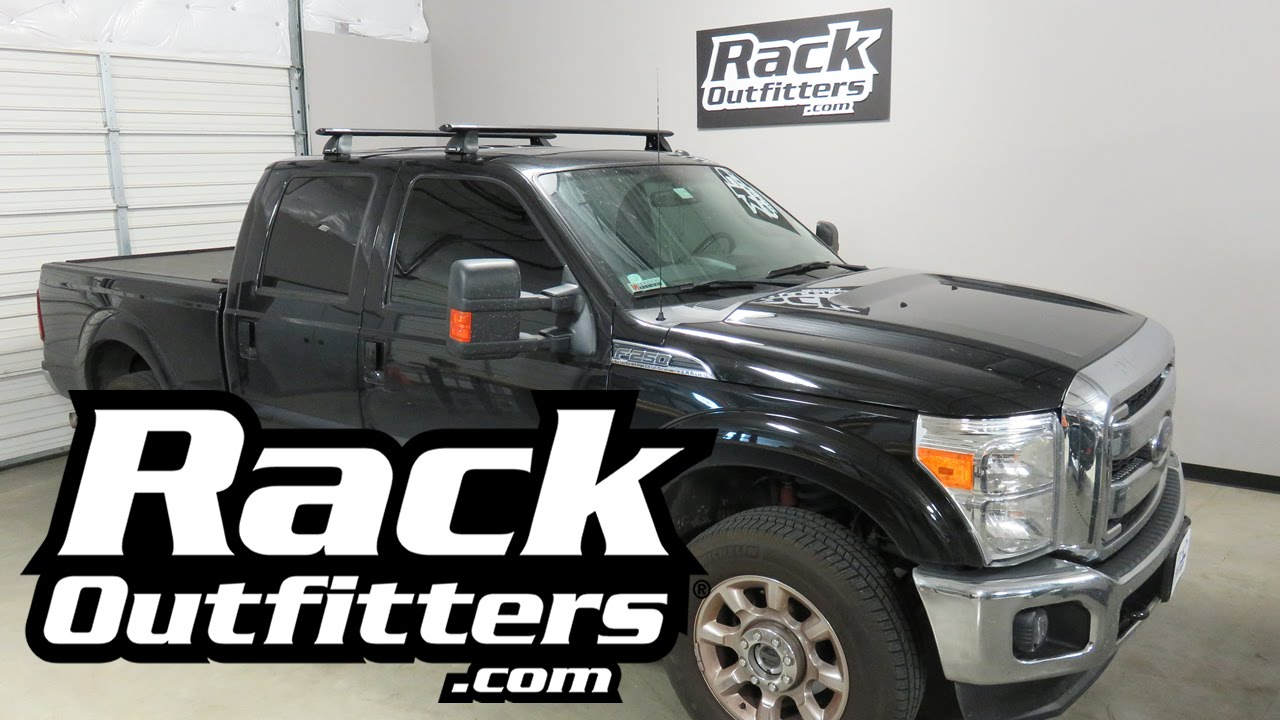 Ford F250 Crew Cab with Rhino-Rack 2500 Vortex Roof Rack System - YouTube