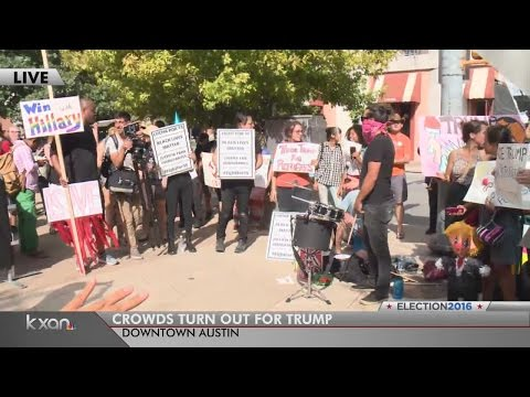Austin streets become political playground as Trump arrives