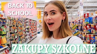 JEDZIEMY NA ZAKUPY SZKOLNE!   vlog back to school